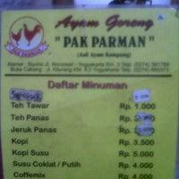 Photo taken at Ayam Goreng Pak Parman ( asli ayam kampung ) by Mayrina A. on 11/16/2012