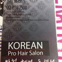 Photo taken at Park chul korean top hair saloon by Rachell C. on 9/21/2013