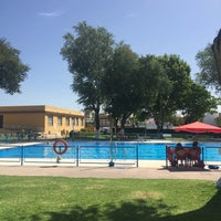 Photo taken at Complejo Deportivo Municipal Ramón y Cajal by Rocio G. on 8/6/2017