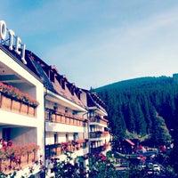 Photo taken at Hohe Rinne Păltiniș Hotel & Spa by Antonia on 10/2/2016