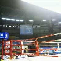 Photo taken at Rajadamnern Stadium by Takeshi O. on 4/29/2013