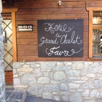 Photo taken at Hotel Favre - Le grand Chalet by Olivier D. on 8/24/2014