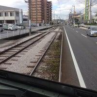 Photo taken at 県立美術館通電停 by Yoshihisa M. on 11/20/2013