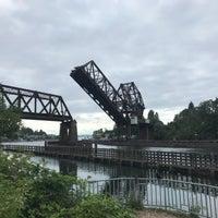 Photo taken at Salmon Bay Bridge by Jeff S. on 7/20/2018
