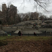 Photo taken at Heckscher Playground by Mam Y. on 1/13/2013