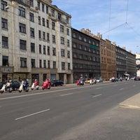 Photo taken at Brīvības iela by Arina S. on 5/17/2014