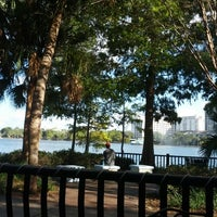 Photo taken at Relax Grill At Lake Eola by Robert J. on 10/23/2012