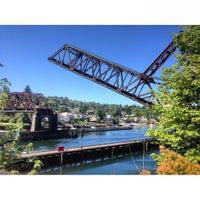 Photo taken at Salmon Bay Bridge by Beto & Gigi on 7/27/2013