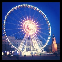 Photo taken at Place Bellecour by Nicolas on 2/4/2012