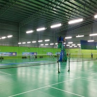 Photo taken at Champion Badminton Court by Long D. on 7/23/2014
