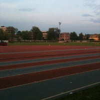 Photo taken at Stadio Atletica Pordenone by Luca N. on 9/18/2014