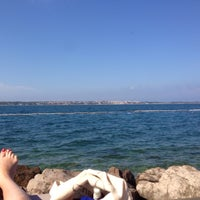 Photo taken at Bernadin Strand - Beach by Jaroslava C. on 7/13/2016