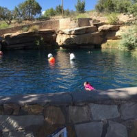 Photo taken at Blue Hole by Maki N. on 5/23/2016