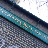 Photo taken at Whitechapel Bell Foundry by Sophie E. on 1/24/2015