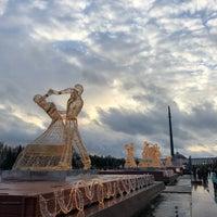 Photo taken at Фонтаны by Vladimir M. on 1/7/2018