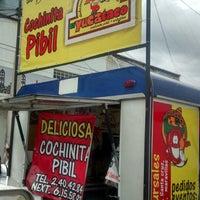 """Photo taken at """"El yucataco"""" Deliciosa Cochinita Pibil.  priv. 27 poniente entre 11 y 13 sur by Jenny B. on 9/9/2014"""