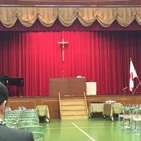 Photo taken at 賢明女子学院 by Ayaka K. on 2/28/2015