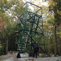 Photo taken at Southford Falls Watchtower by Sandra M. on 10/8/2012