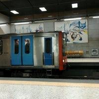 Photo taken at Metro Restauradores [AZ] by Paula F. on 1/2/2013