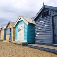 Photo taken at Brighton Bathing Box by Oscar C. on 3/24/2018