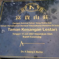Photo taken at Taman Kenangan Lestari by Rin R. on 9/15/2013