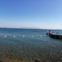 Photo taken at Alkoru Beach by Umay T. on 8/26/2014
