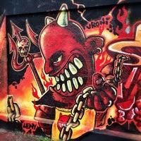 Photo taken at Graffiti Wand by Stefan on 11/23/2014