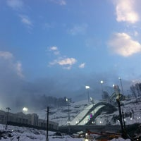 "Photo taken at ""RusSki Gorki"" Jumping Center by Alena B. on 2/2/2013"
