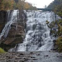 Photo taken at Ithaca Falls by Sean M. on 10/15/2012
