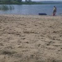 Photo taken at Пляж в Зеленом Бору by Polya Y. on 8/1/2014