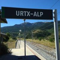 Photo taken at Estació Urtx-Alp by Víctor P. on 8/11/2013