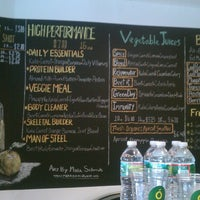 Photo taken at Yellow - A Juice Bar by Tinsel & Tine (. on 7/29/2013