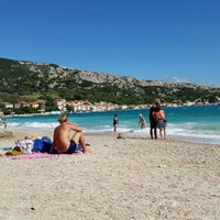 Photo taken at Baška Beach by Wolfgang F. on 9/21/2015