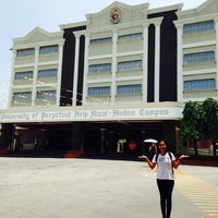 Photo taken at University of Perpetual Help by Marga A. on 7/14/2014