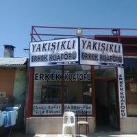Photo taken at Yakışıklı Erkek Kuaförü by Bünyamin B. on 9/22/2014