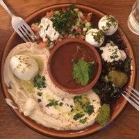 Photo taken at Reggev Hummus by daniel P. on 12/19/2014