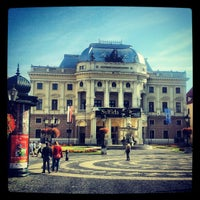 Photo taken at Hviezdoslav Square by Jirka K. on 9/16/2012