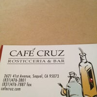 Photo taken at Cafe Cruz by Liz P. on 7/27/2013