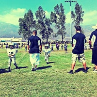 "Photo taken at Rancho Cucamonga Pop Warner Field by ! ! ""Backstage Gabe . on 9/21/2013"