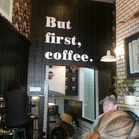 Photo taken at Alfred Coffee & Kitchen by Chris M. on 3/17/2013