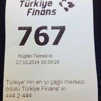 Photo taken at Türkiye Finans by Fatmanur G. on 10/27/2014