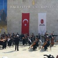 Photo taken at Hacettepe Üniversitesi Amfi Tiyatrosu by Gizem C. on 9/15/2014