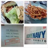 Photo taken at Army Navy Burger + Burrito by Herman B. on 11/1/2013