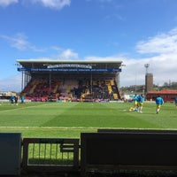 Photo taken at Sincil Bank Stadium-Lincoln City Football Club by Ray W. on 4/1/2017