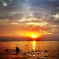Photo taken at Bang Saen Beach by Pakorn S. on 2/23/2013