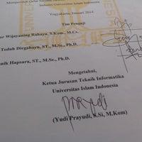 Photo taken at Fakultas Teknologi Industri UII by Dhery D. on 2/5/2014