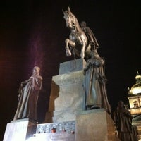 Photo taken at Saint Wenceslas statue by Олег Б. on 12/3/2012