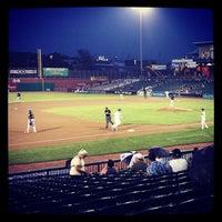 Photo taken at Northeast Delta Dental Stadium by Gail K. on 6/25/2013