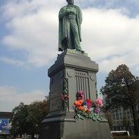 Photo taken at Памятник А. С. Пушкину by Stepan G. on 9/12/2013
