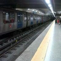Photo taken at Metro São Sebastião [AZ,VM] by Marta C. on 1/6/2013